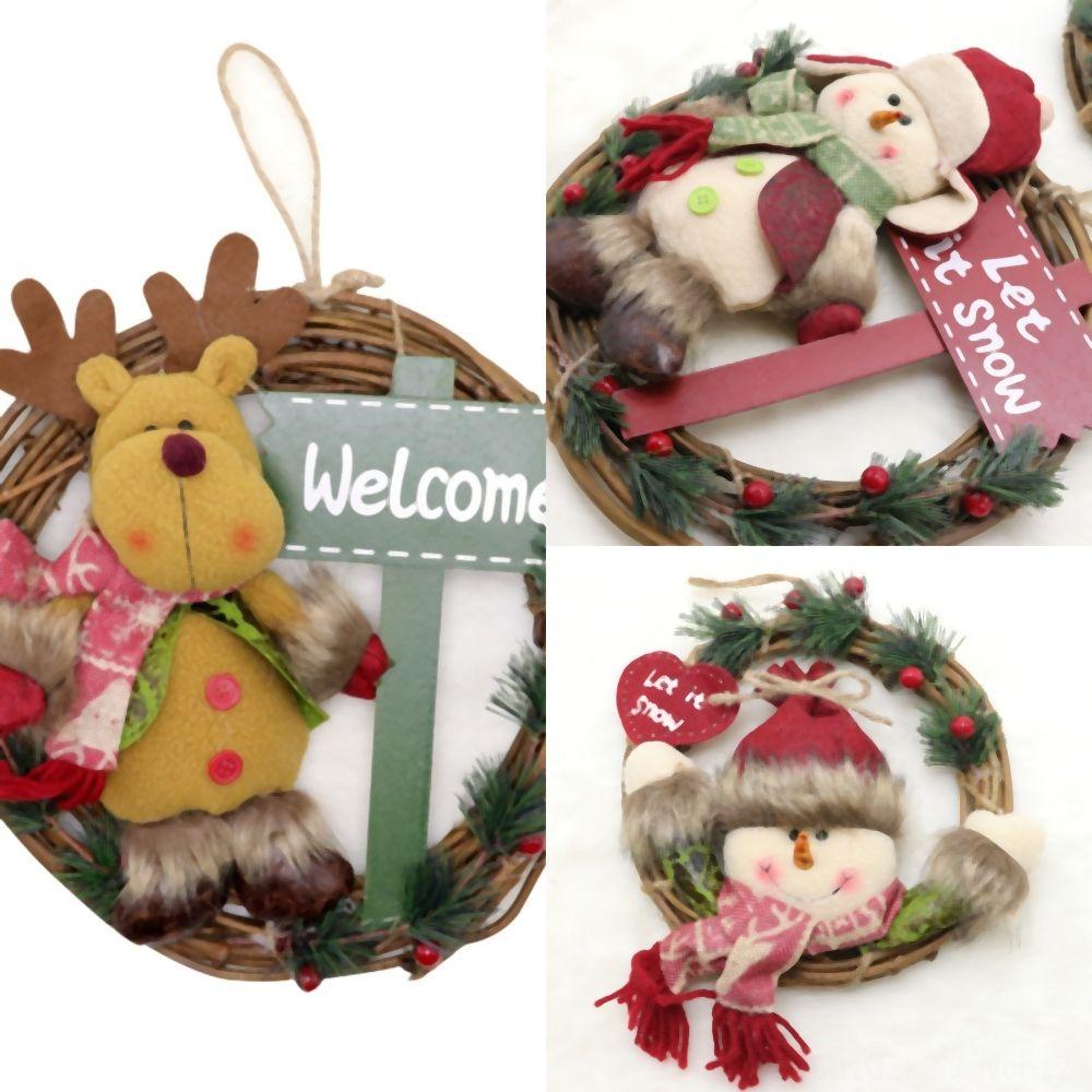rXDmw Claus bonhomme de neige ornements de Noël Petit cadeau Doll Décorations de Noël pour la maison d'extérieur Poupées Nouvel An cadeau