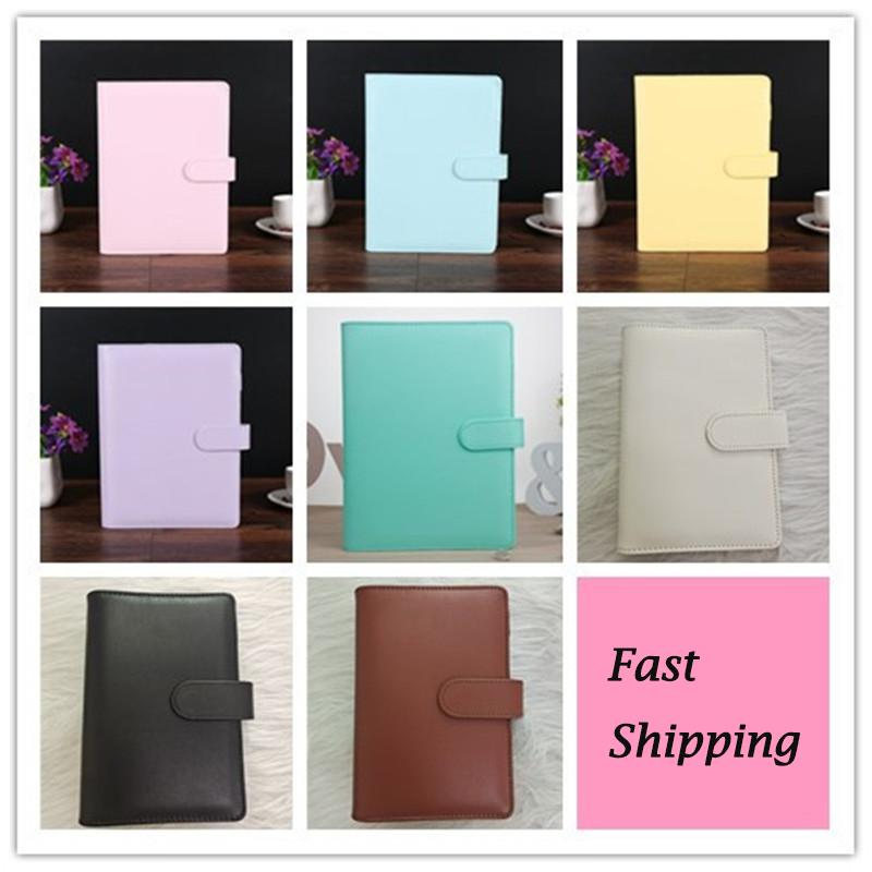 8 Colors A6 Leather Notebook Binder Multi-function Diary Handbook Ring Shell Simple Portable Notepad Cover Case