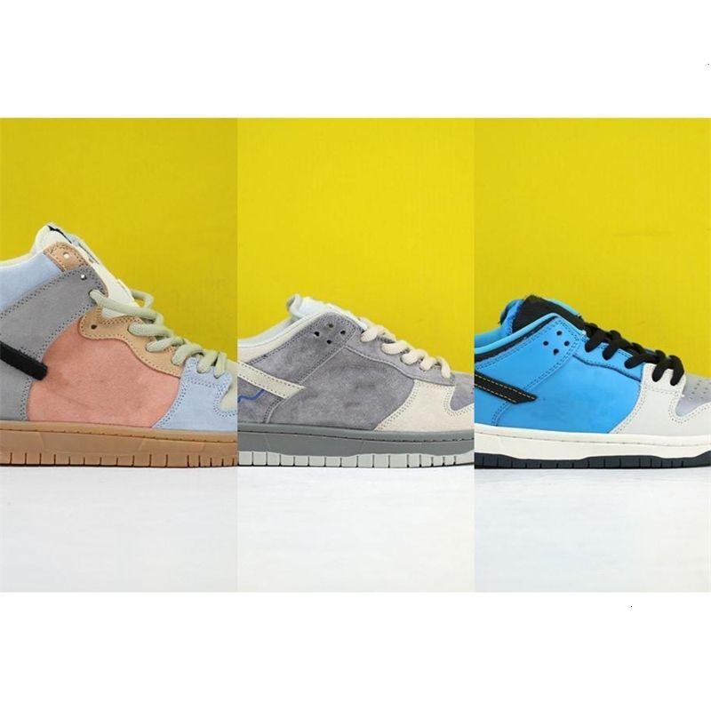 2020SS scarpe nuovo colore per uomini donne scarpe da ginnastica SB Dunk bianco gioventù verde giallo basso Studente di esecuzione lusso informale 45VZ X5NI LY2F