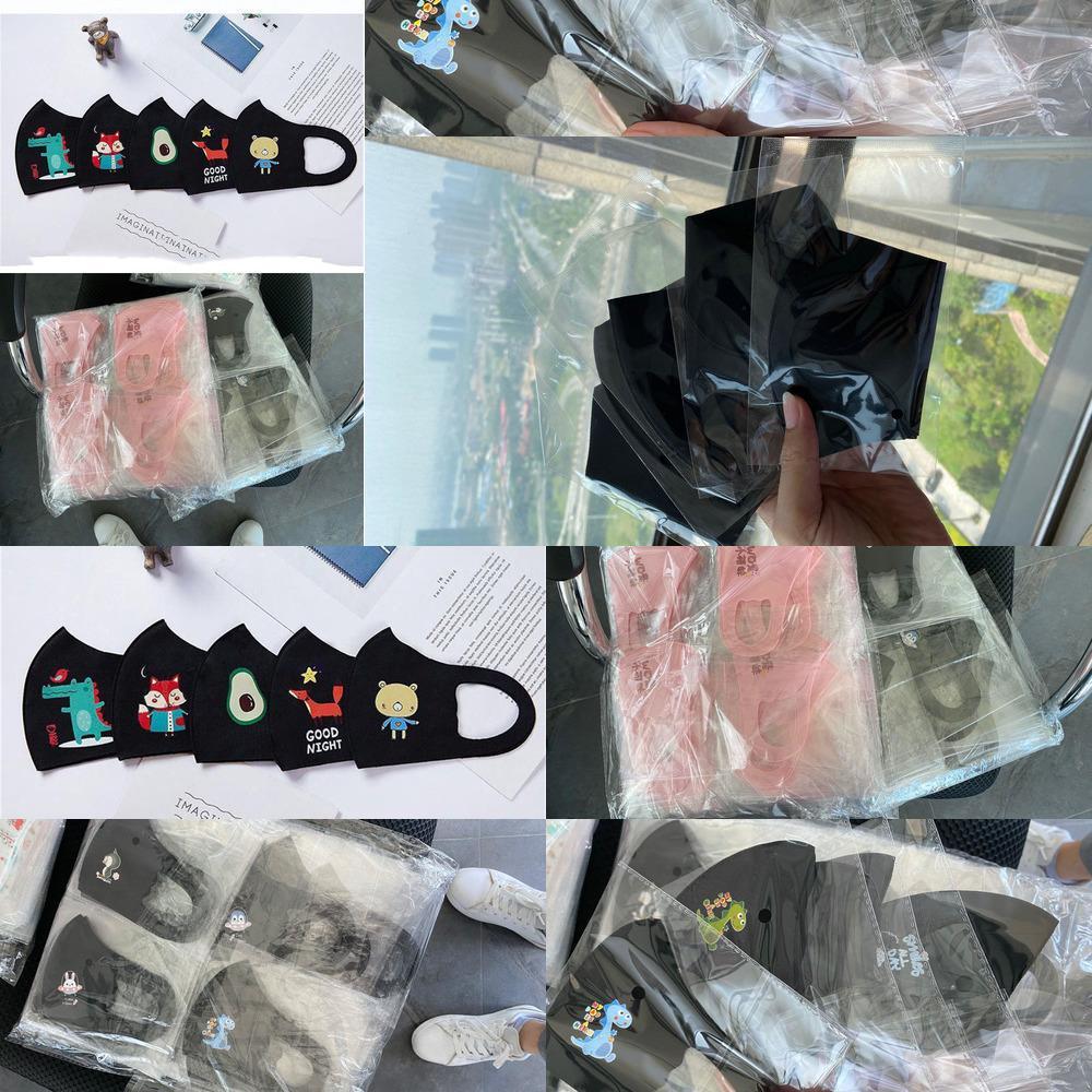 maskelemek Çocukları siyah yüz yüze tasarımcı maskeleri Çocuk PM2.5 Karşıtı toz kirliliği Karikatür ağız IX58 BIBR1 mas