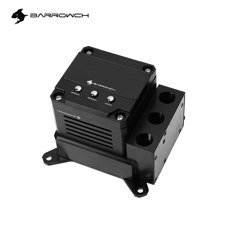 BARROWCH AMD AM3 AM4 CPU Water Block Combo 17W PWM Pump Integrated POM Reservoir For INTEL 1155 , For Small A4 Case ,FBLTPRP-04