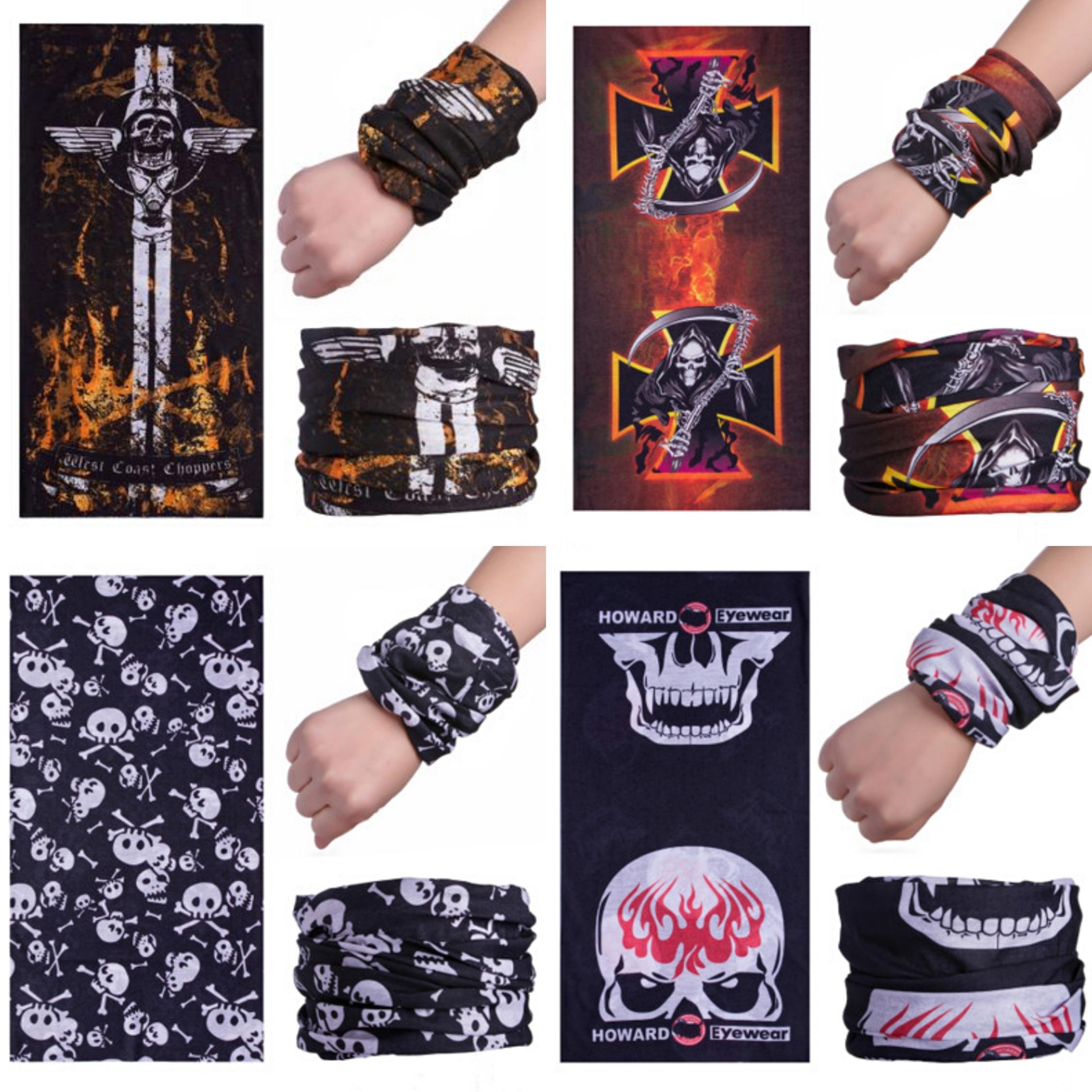 9KmuE 2020 Skull Scarf Hip Hop design anacardio Skull Scarf triangolo magico Flower Bandana Via Skateboard maschera di protezione del collo di moda della bicicletta S # 441