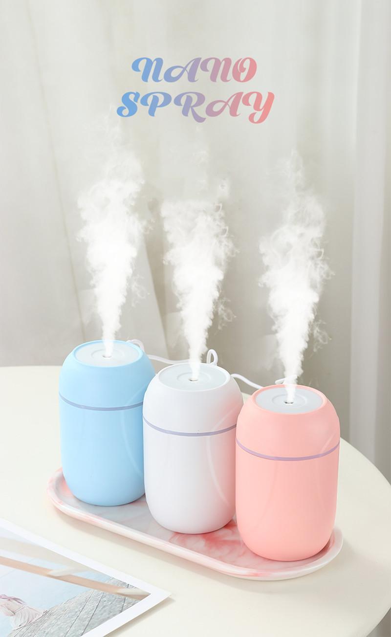 رائحة الضروري النفط الناشر الهواء المرطب 260 ملليلتر مع أضواء الليل الملونة الرئيسية سبا سيارة وظائف بالموجات فوق الصوتية usb fogger maker
