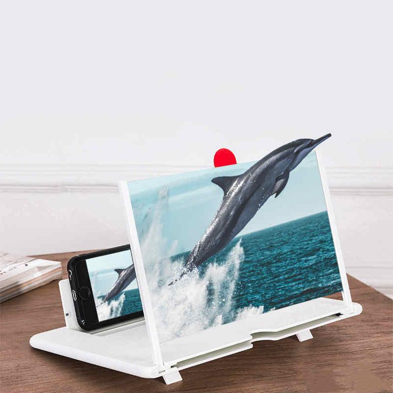 """12"""" Screen Magnifier 3D HD Mobile Phone Magnifier Projector Screen for Movies, Videos, and Gaming Foldable Phone Stand with Screen Amplifier"""
