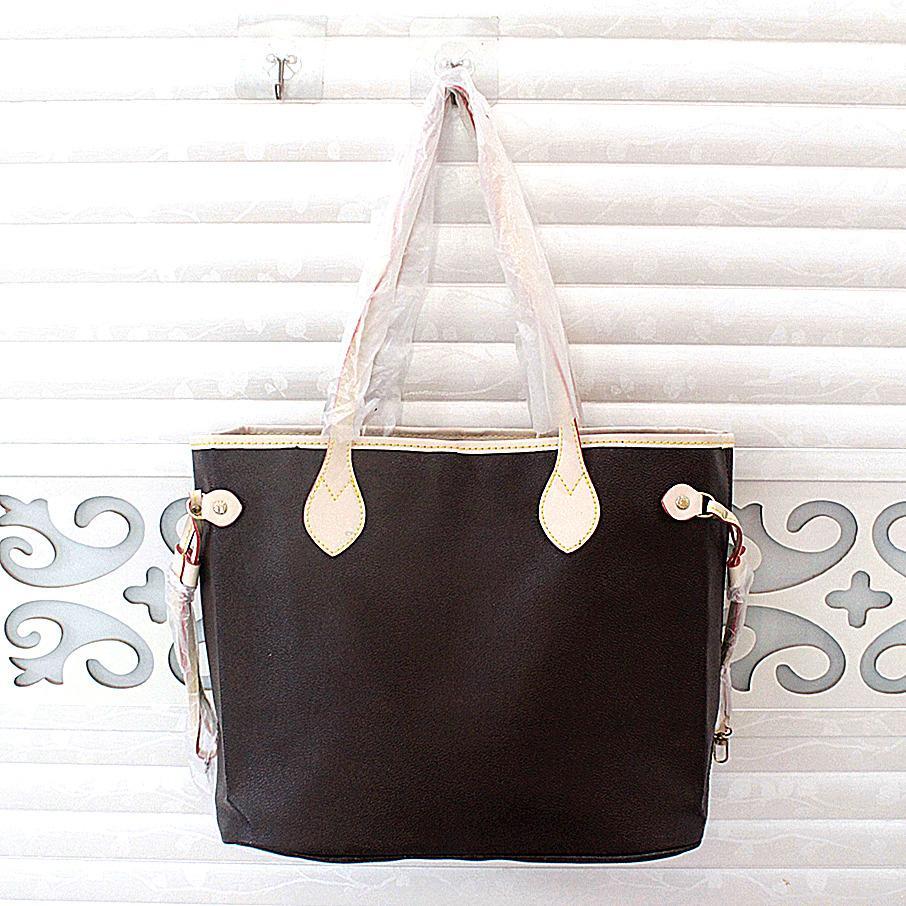 bolsa de tamaño medio, con la billetera nueva moda de las mujeres ocasionales bolsos de la señora famoso diseñador bolsas de viaje bolsa de cuero de la PU femenino del monedero 2pcs / set