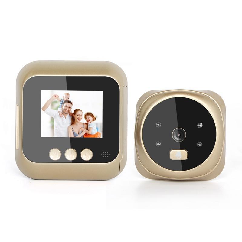 2.4 polegadas de alta definição Sn exibição Início Smart Video Doorbell Foto de gravação automática de Night Vision