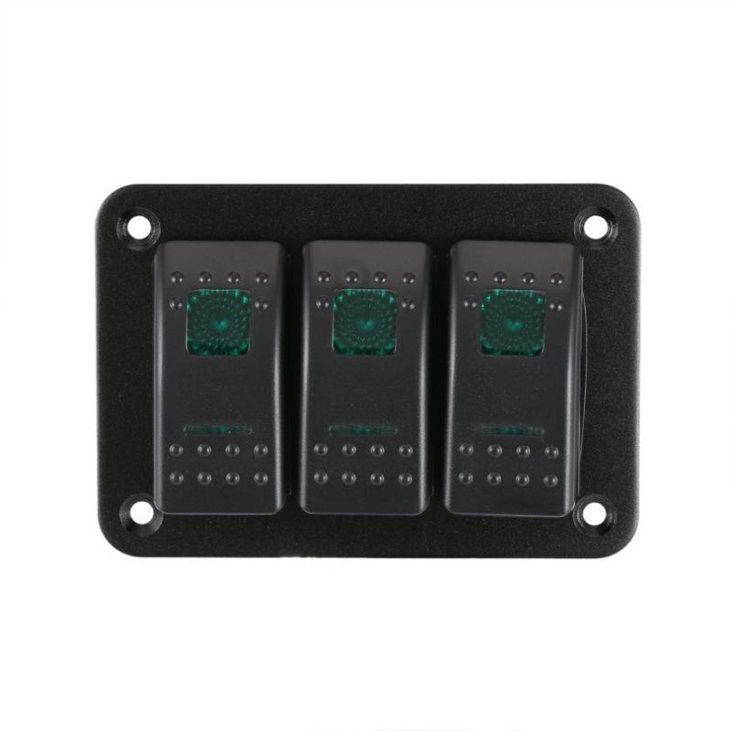 3 Gang Car Marine Boat Caravan LED Switch Panel Professional Splashproof Rocker Switch Control Panel Waterproof Circuit