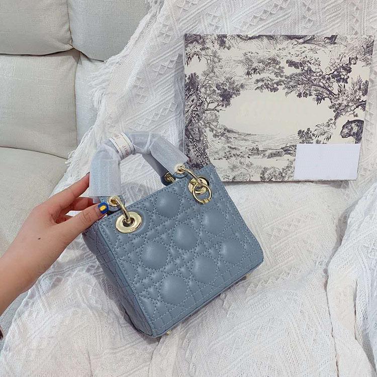 الأزياء أكياس الكلاسيكية رسول حقائب عالية الجودة المرأة حقيبة الكتف بوتيك المرأة حقيبة تسوق حقيبة 17 سنتيمتر