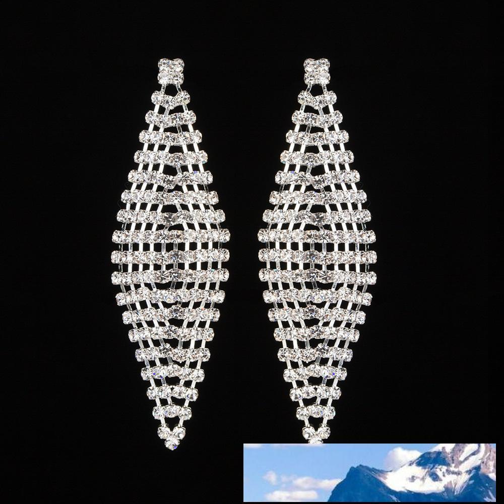 Forma de diamante pendientes borla del pendiente con el circonio Shi