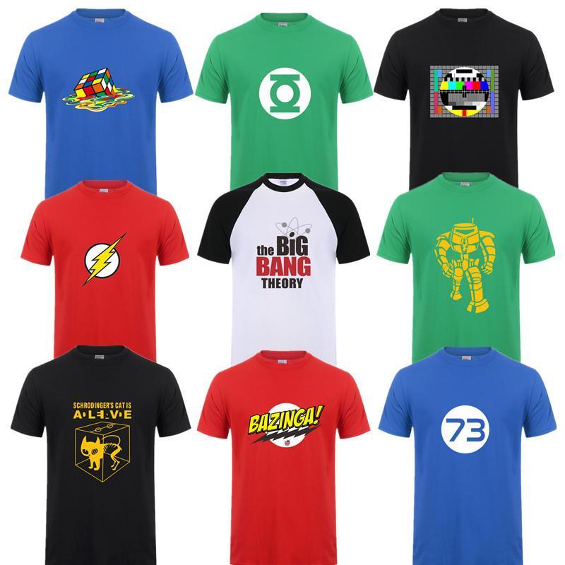 Moda Yeni Sheldon Cooper Penny Erkekler Tişörtlü Yaz Kısa Erkekler tişört Y200611 Tops Big Bang Theory tişört Pamuk Cooper Logo sleeve
