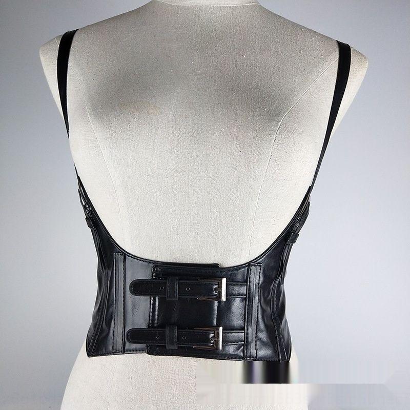 Personalizado cruzado de goma elástica de las mujeres de goma de banda ancha banda ancha correa de tirantes vientre ceñido cinturón ancho bel decorativa