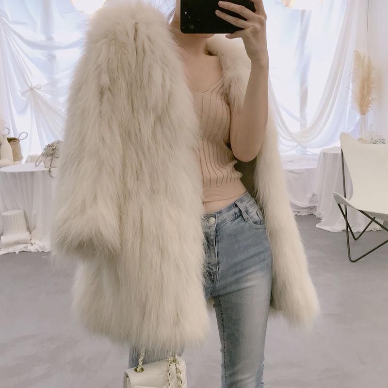 Bella Filosofia 2020 inverno addensare caldo cappotto di pelliccia femminile a manica lunga Solid Giacche autunno Office Lady Elegant Faux Fur Coats T200915
