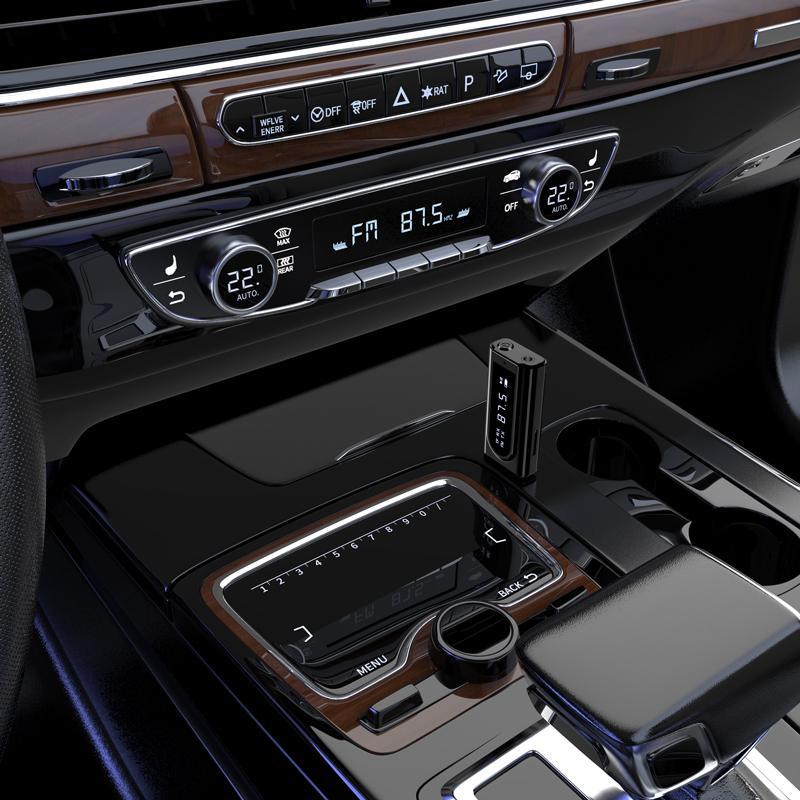 Bluetooth FM modulador 5.0 Receptor de LED Transmissor Visor Kit Car 3,5 milímetros AUX Jack RCA USB sem fio Adaptador de Áudio Handsfree Mic