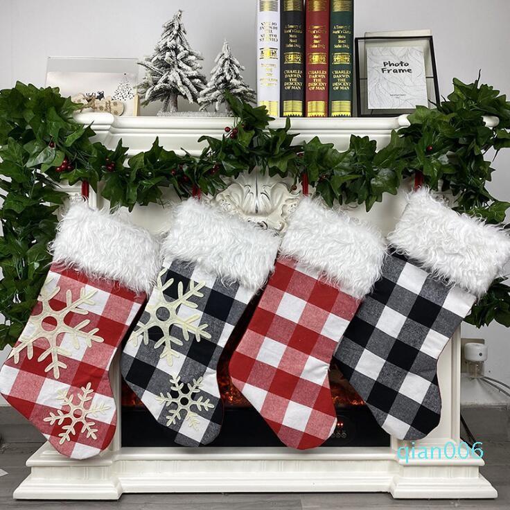 Medias de Navidad de caramelo bolsa de regalo del árbol de navidad colgando colgante Feliz Navidad Decoración Creativa Inicio partido de los ornamentos EWC1358