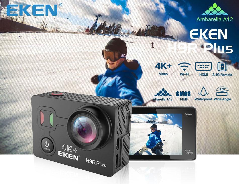 كاميرا مضادة للماء بوصة الأصل 4K الشاشة بعد 170 اسعة واي فاي الرياضيه بلس هدمي هدمي تحكم فائق الشحن EKEN HD مجانا H9r 2 التدبير العمومي zeSEil