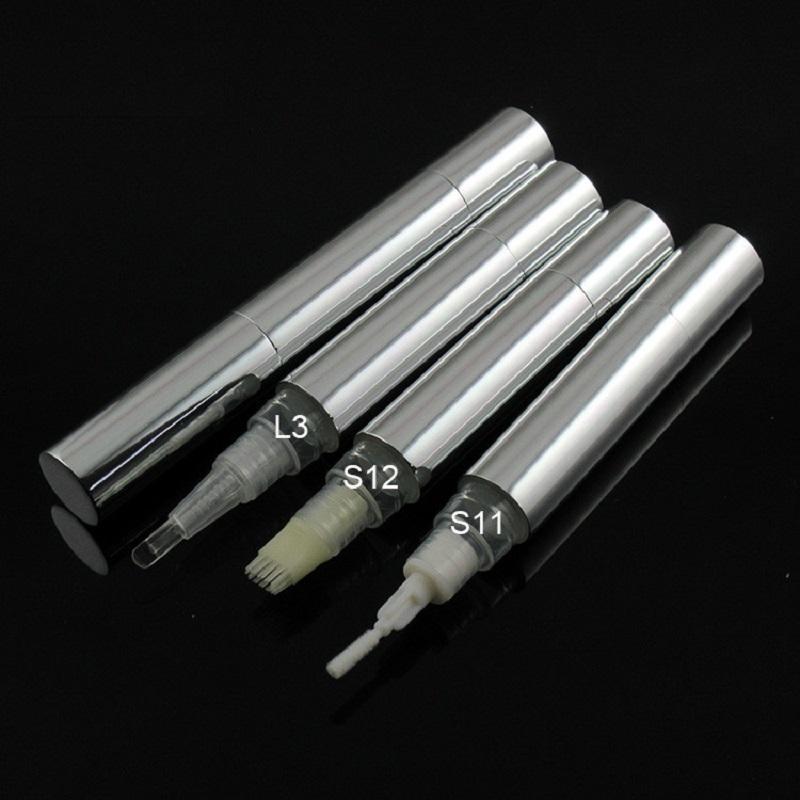 Bestnote 5 ML Twist Pen kosmetische Behälter leeren Silber Aluminiumrohr Lipgloss Concealer Nachfüllpackungen Box