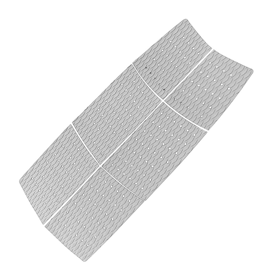 6pcs Surfboard Traction Pad with Strong Adhesive Deck Grip Accessory Gray