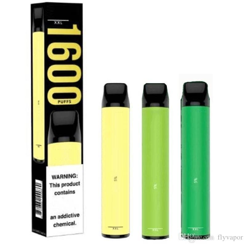 Top Qulity Puff XXL 1600 puff Disposable Vapes Kit 4ml Puff Bars XXL Vape Pen Puffbar XXL Vaporizer Electronic Cigarette Carts