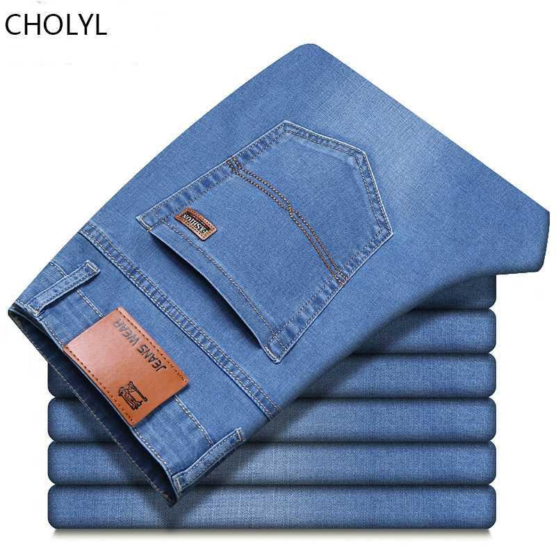 calças de brim colilo para homens calças clássicas homens denim jean Calças Negócios Casual solta Hetero Elasticidade pant masculino Plus Size 28-40