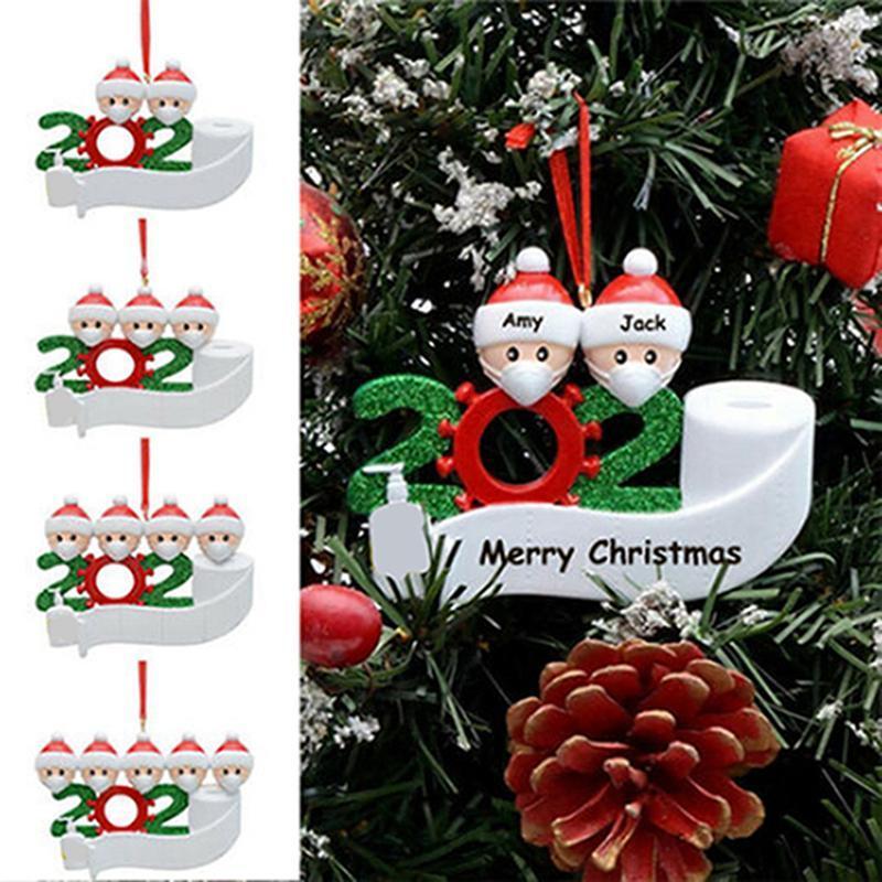 2020 الحجر شجرة زينة عيد الميلاد الشنق قلادة DIY اسم نعمة قلادة مع اليد مطهرة زخرفة عيد الميلاد الشحن البحري