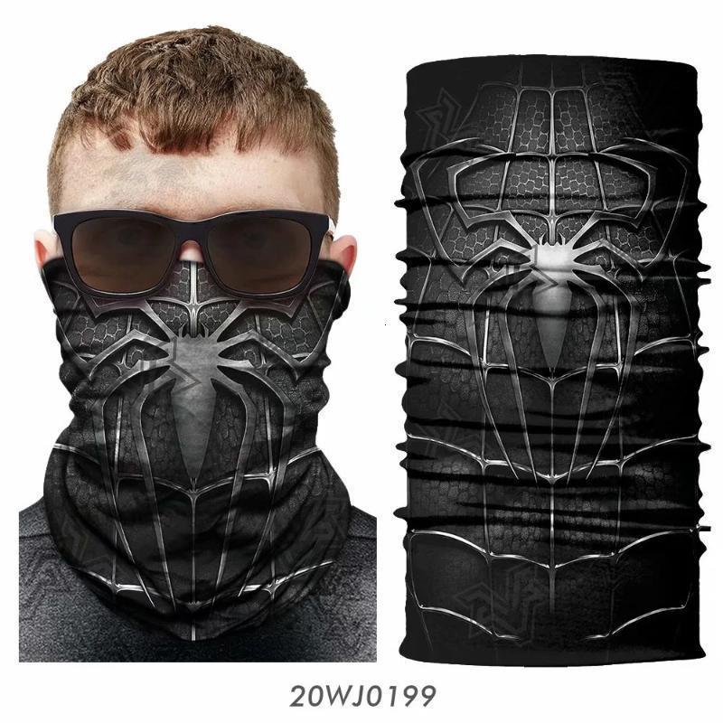Animal Magic 3d senza saldatura Ghetta scaldacollo Shield capo fascia Aquila maschera di protezione di Halloween Bandana Copricapo