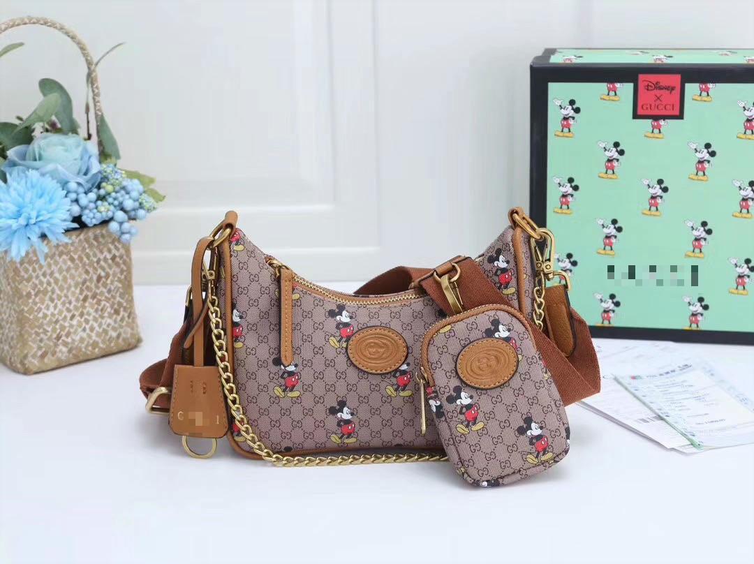 Excelente bolso mujeres de la moda de cuero reales del hombro Calidad de Orignal bolsos de diseño de compras del totalizador de la presbicia bag7 del bolso del mensajero de lujo