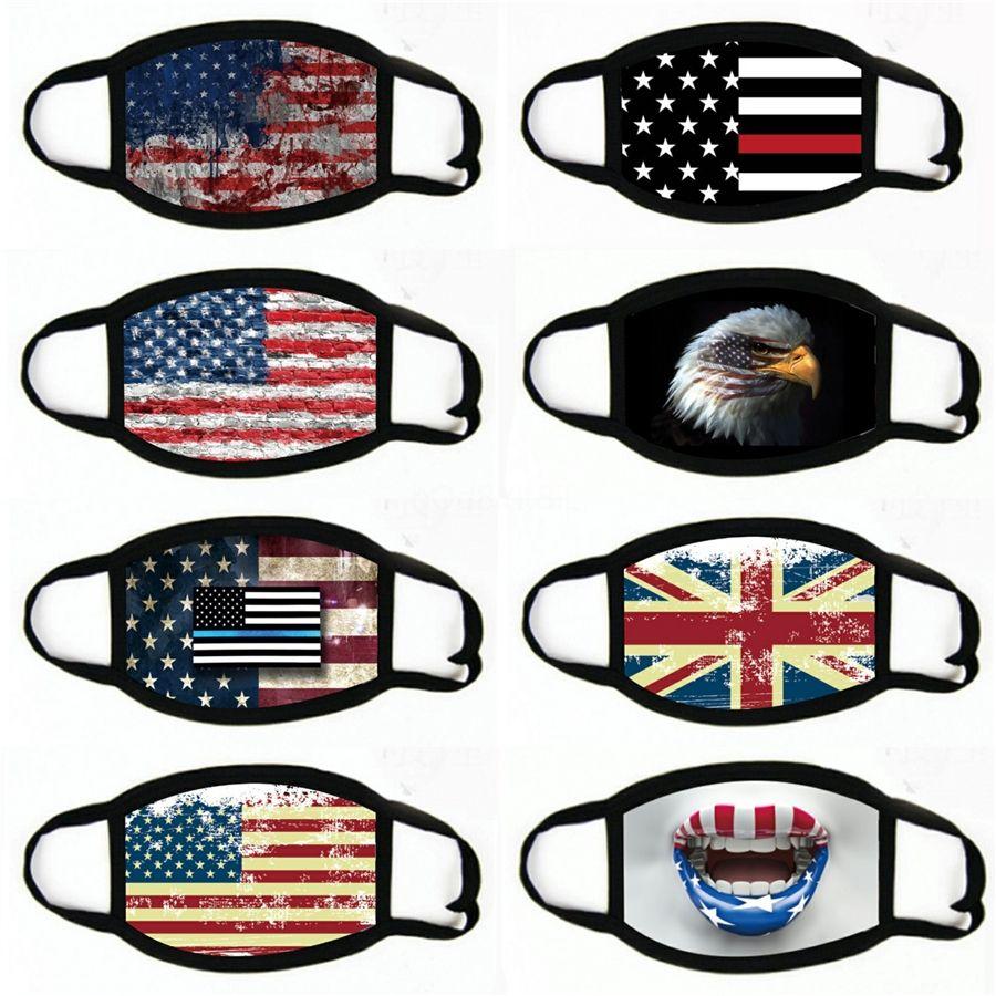 Италия Испания Флаг печати Маска Keep Файтинг лица Маски Ткань для взрослых Защитные Многоразовые маски Proof моющийся многоразовые # 654