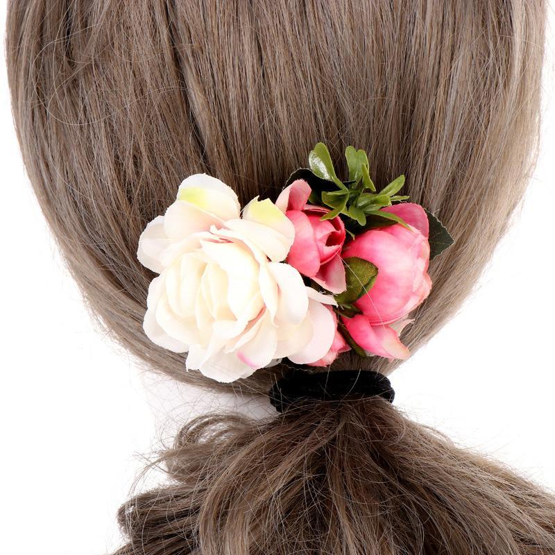 Hair Clips & Barrettes SHUANGR Fashion Flower Comb Clip Women Bridal Wedding Accessories Handmade Headband Girls Head Ornaments