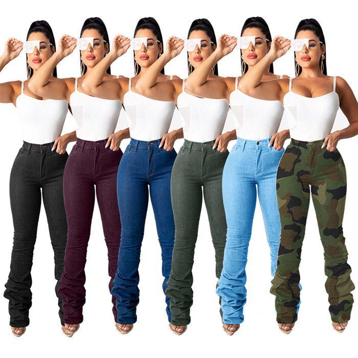 2021 جديد إمرأة عادية جينز سروال جينز مرصوف الخريف سليم الأزياء مرصوف يغطي الرجل جينز مع سحاب شارع العليا النساء بنطلون
