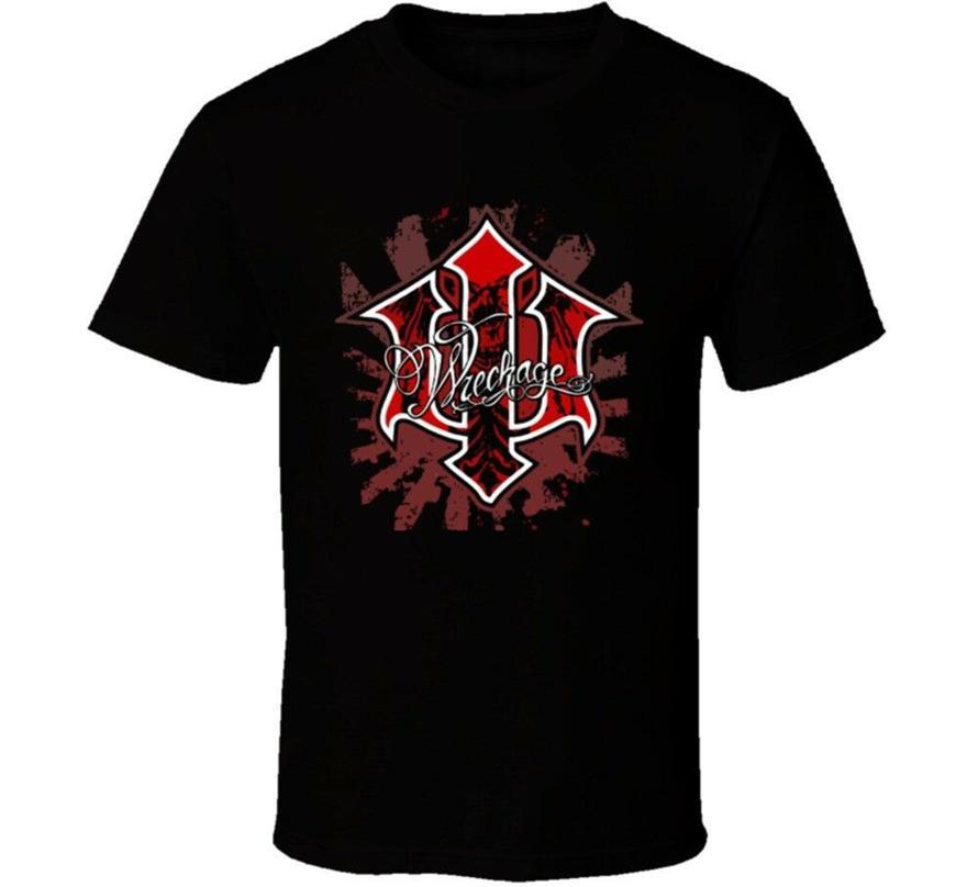 Wreckage Mixed Martial Arts T Shirt Verão O Neck Tops Camiseta