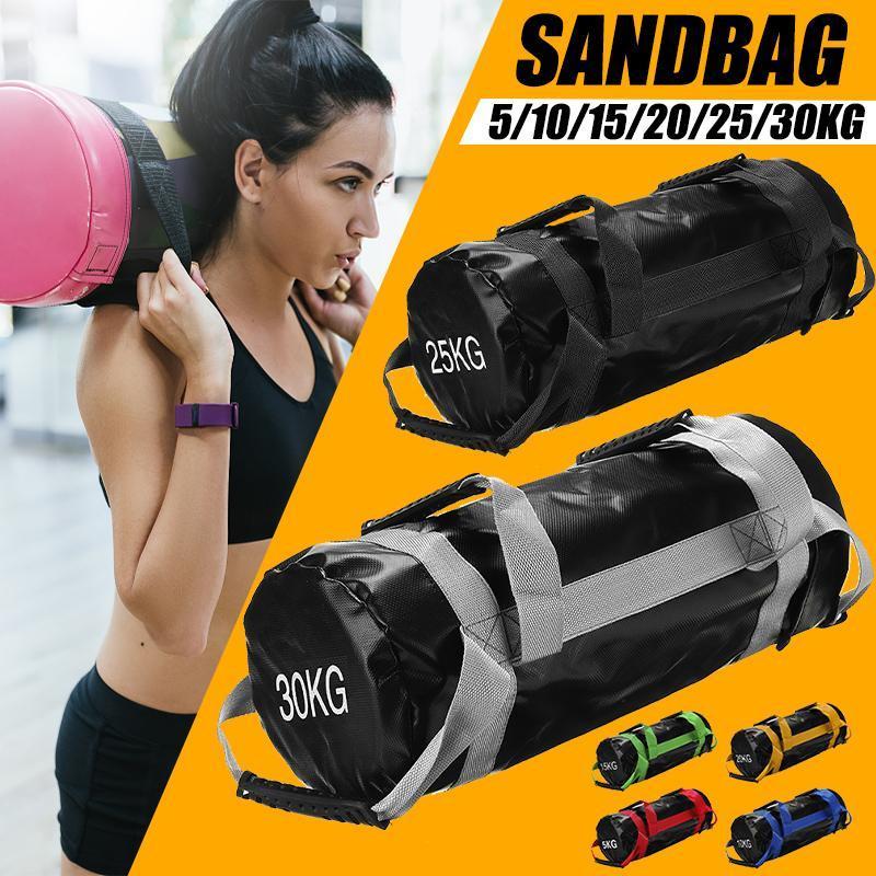 Tasche Gewicht Fitness Schwere Sand Power 5-30kg Pflicht Boxbeutel Crossfits Sandsack Anheben Gewicht PU DKFDX