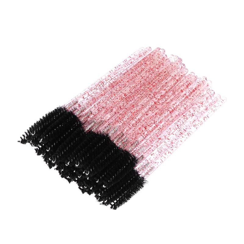 1/50 Pcs Disposable Fake Eyelash Brush Mascara Wands Applicator Grafting False Lashes Curling Comb Beauty Natural Makeup Tool