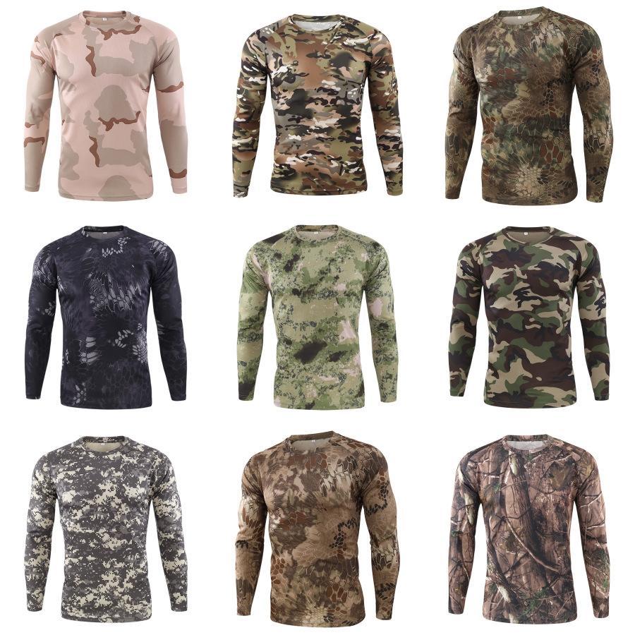 Mens Stagioni Stampa maniche lunghe T-shirt di moda maschile Tee Tops # 468