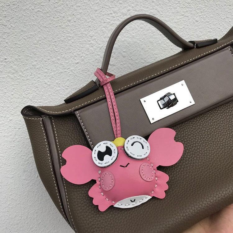 gWClc Klasik aynı stil koyun derisi kadın taşınabilir omuz crossbody çantası püskül midilli yengeç Satchel omuz çantası küçük kolye kolye çanta