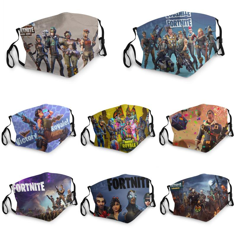 Masque sur mesure 3D Impression numérique Fortnite adulte Masquerade Imprimer facemask réutilisable anti-buée cosplay Mask Party Disponible