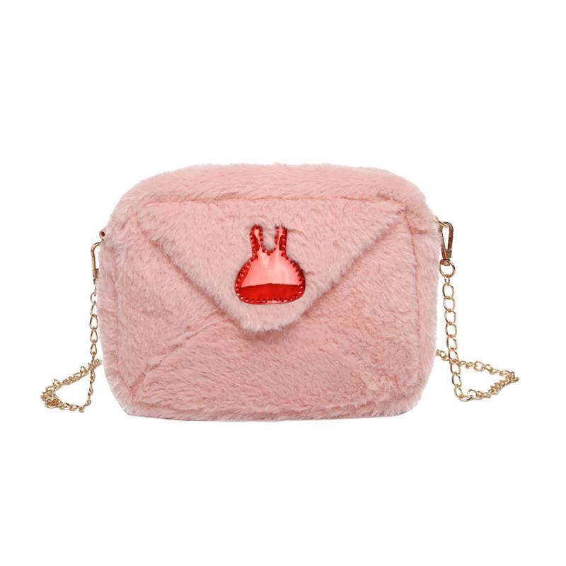 Горячие ретро дизайн украшения Плюшевые сумка плеча малого размера Cute Zipper Crossbody сумка Femininas осень и зима Wild