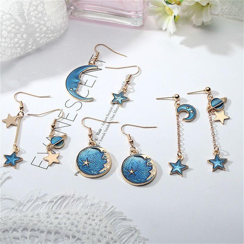1шт синих серии Серьга сувениры партии подарки Guests Presents Валентин Свадьба Girlfriend День Romance Souvenir