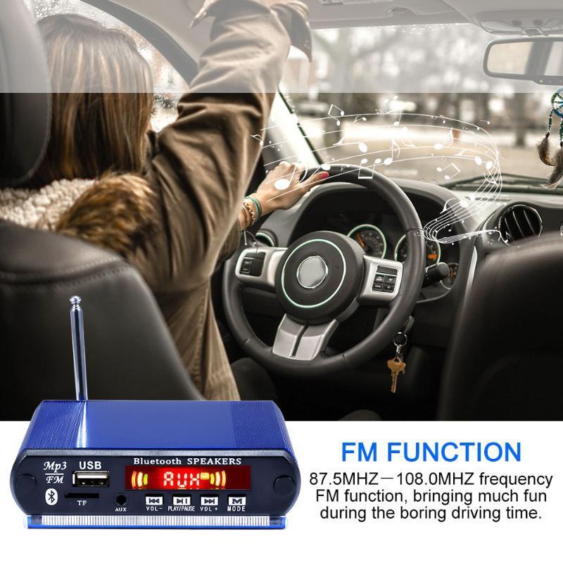 Reproductor MP3 Bluetooth MP3 decodificador de aluminio reproductor de audio digital 12v colorido dispositivo de decodificación de pantalla para el coche Montar