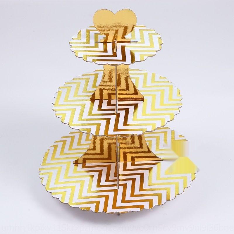 carta doratura di alta qualità a tre strati di carta decorazione della tavola di visualizzazione tableCake tablecreative dolce partito alta qualità doratura a tre strati rac