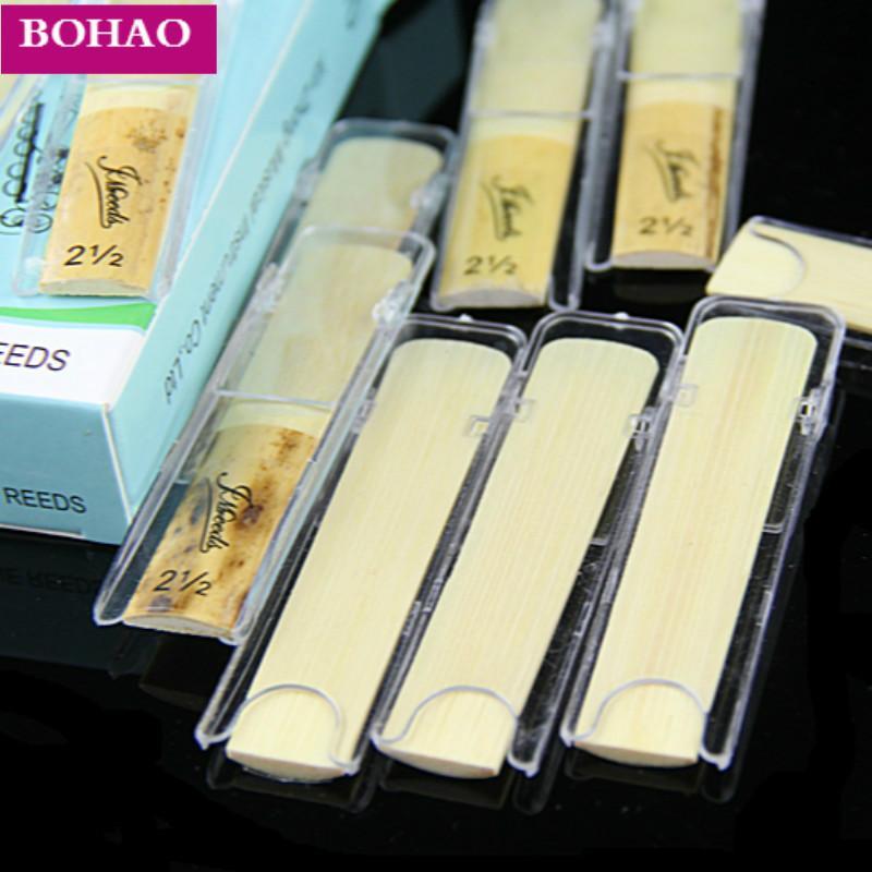Alta qualità 10pcs / Box Eb Alto Saxophone Sax bambù Ance Forza 3.0 per l'opzione