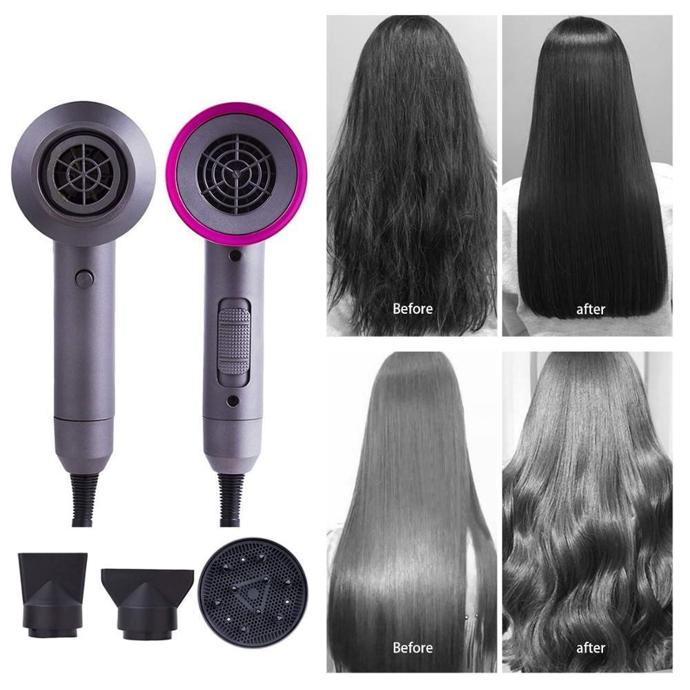3 in 1 Salon Hair Dryer Styler Large Power Repairing Hair Volumizing Ion Air Blower Constant Temperature Quick Dry Fan