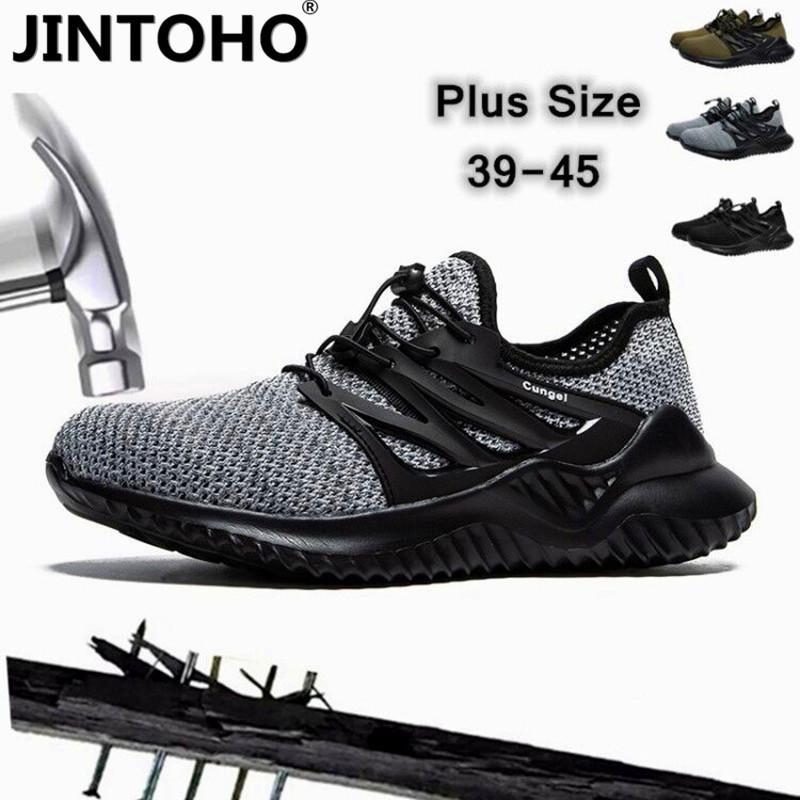 JINTOHO 2020 Yok edilemez Ryder ayakkabı erkekler ve kadınlar Çelik Burun Hava Güvenlik Botları Delinme-Proof Çalışma Sneakers Sanayi Ayakkabı LJ200916