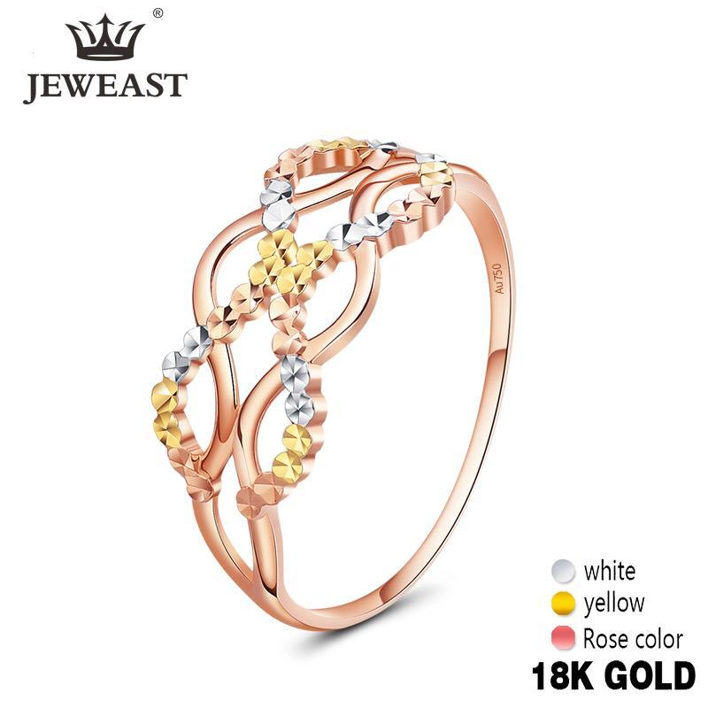 JYM Gold 18K Pure Gold Ring Echt 18K Ringe Schöne Upscale Trendy klassische Partei Fine Jewelry Hot Sell New 2020