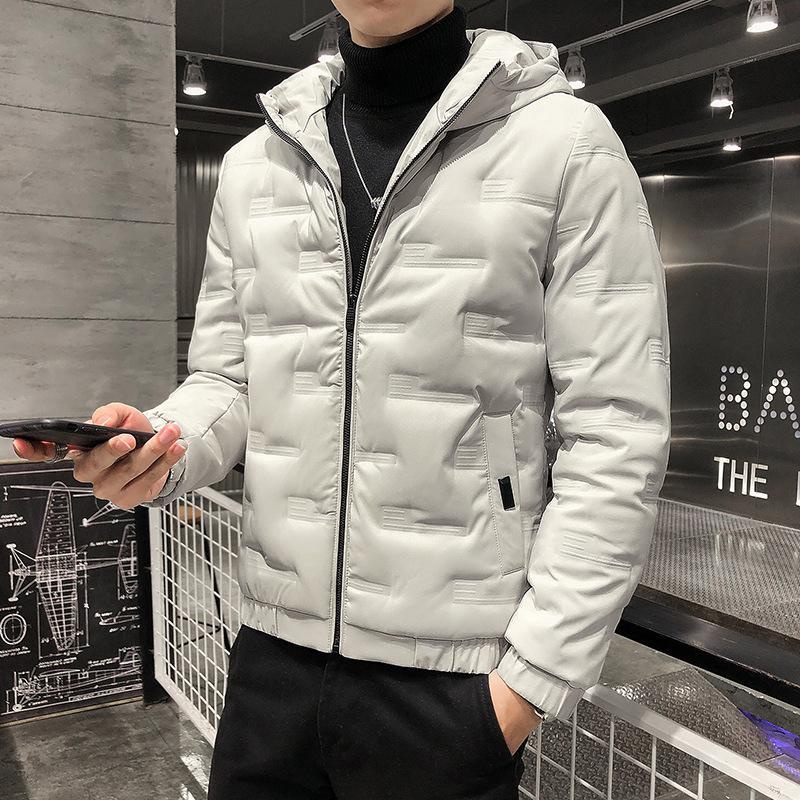 2020 inverno spesso piumino degli uomini di breve paragrafo nuovo afflusso di marca giacca con cappuccio marea piume d'anatra bianca giacca