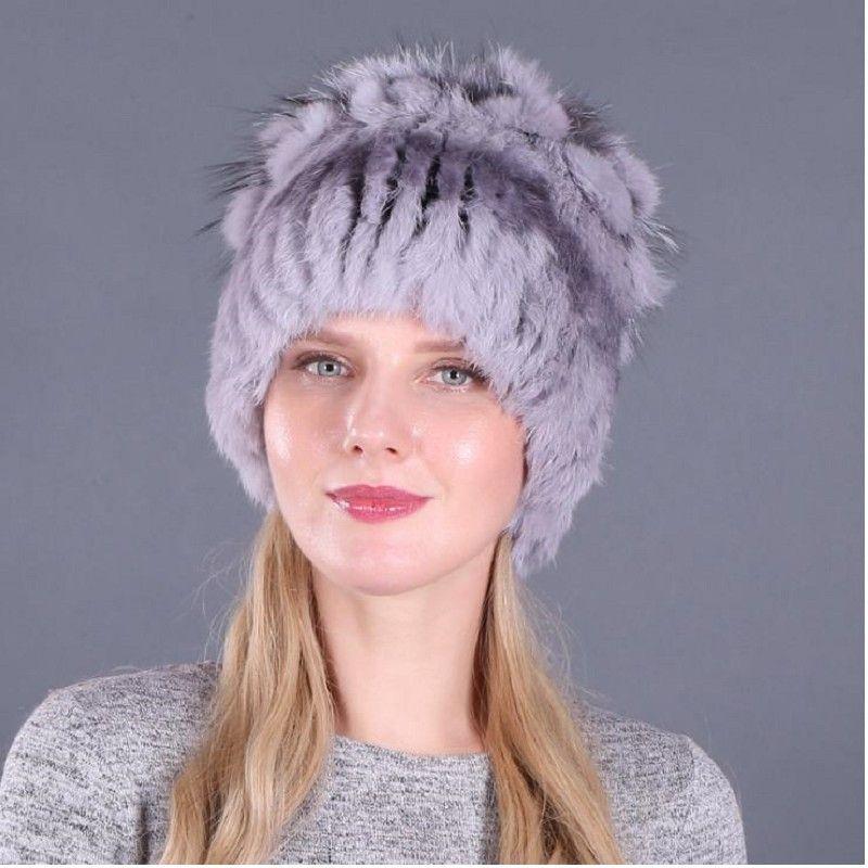 Sombrero de invierno femenina sombreros de pelo de señora de piel gorros de lana sombreros de los niños del otoño adulto caliente del cuidado del oído