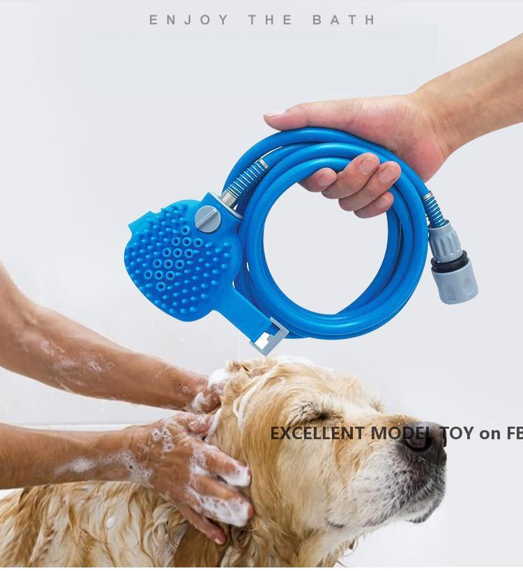 New Pet Bathing Tool Comfortable Massager Shower Tool Cleaning Washing Bath Sprayers Dog Brush Pet Supplies Wholesale