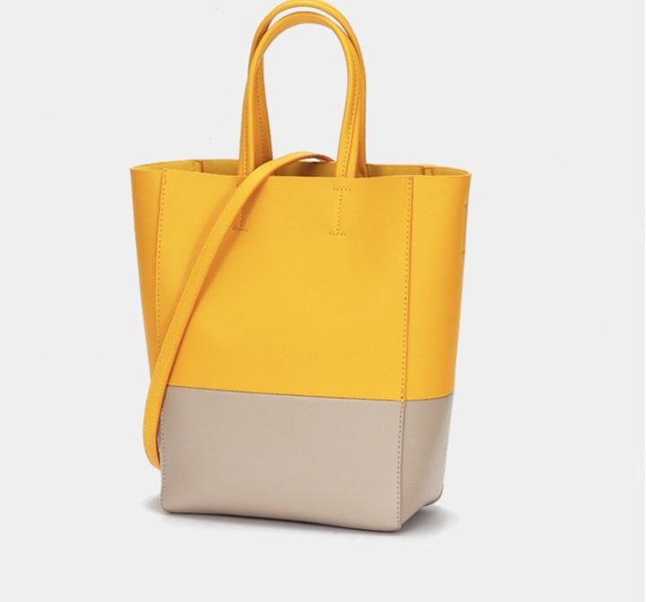 Yeni kadın kova omuz çantası moda trendi yüksek kapasiteli taşınabilir Çapraz Vücut çanta Yüksek kaliteli deri büyük el çantası