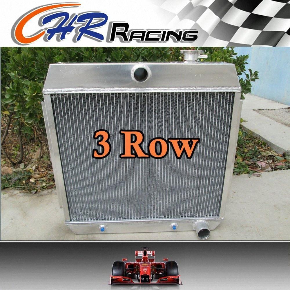 para Bel Air de Chevy V8 W / COOLER 1955 1956 1957 3 Núcleo de liga de alumínio do radiador novo OMMT #