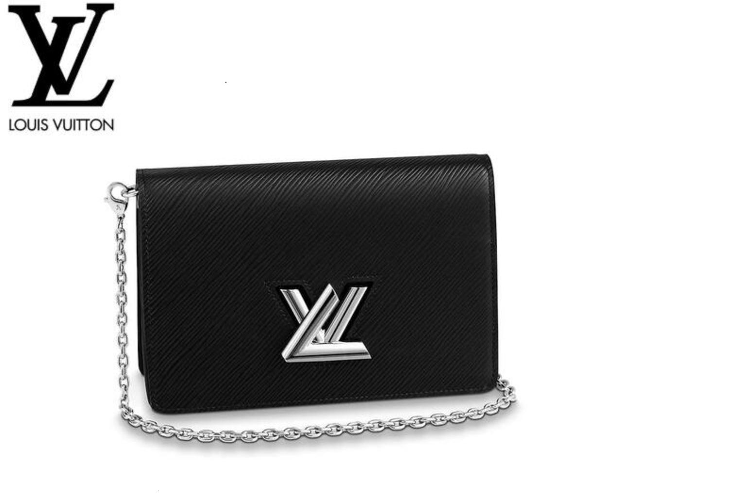 M68560 Twist Belt Chain Wallet Noir Women HANDBAGS ICONIC BAGS TOP HANDLES SHOULDER BAGS TOTES CROSS BODY BAG CLUTCHES EVENING