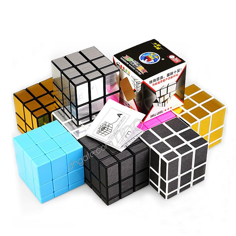 Mirror Magic Cubes 3x3x3 Professional Magic Cast Coated Puzzle Speed Cube Toys Twist Puzzle Creative Gifts 6 Colors Magic Cube toy
